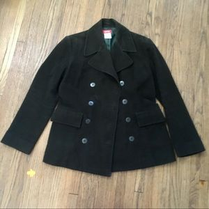ESPRIT | Brushed Cotton Lined Pea Coat Green